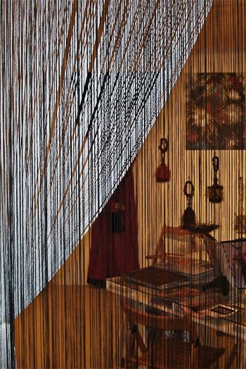 METALLIC VINYL FRINGE / RAIN CURTAINS - CRYSTAL BEADED CURTAINS