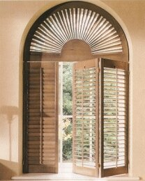 Arched and tapered shutters